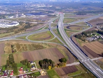 Gliwice-Sonica Interchange  allegedly the biggest interchange in Europe