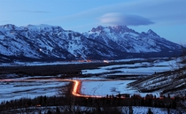 Gloaming in Jackson Hole Wyoming