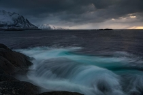 Gloomy and stormy scenery from what to me looks like the end of the world - Lofoten Norway