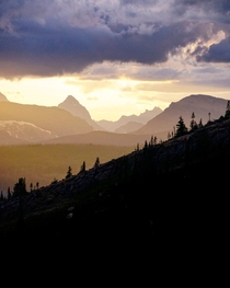 Glorious evening light in Glacier National Park