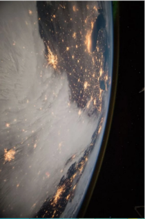 Glorious View of United States at night from Space