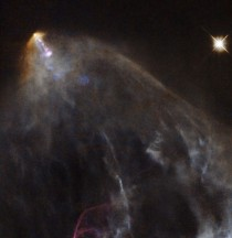 Glowing Jet from a young star