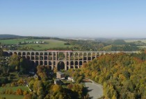 Gltzschtalbrcke Gltzsch Railway Viaduct Western Saxonia Germany - The worlds largest brick bridge