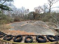 Go-Kart track at abandoned childrens amusement park Rhode Island USA