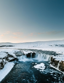 Goafoss in Northern Iceland Nicknamed the Waterfall of the Gods  IG sindrigudlaugs