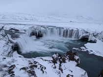 Goafoss Waterfall - winter Iceland February