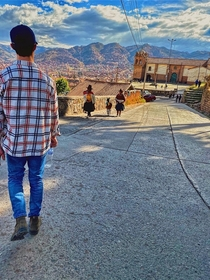 Going for a stroll in Cusco Peru