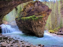 Going off the trail often offers the best views Johnston Canyon