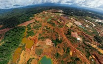 Gold mine in the jungle Venezuela