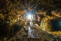 Gold Mine Wales UK A mined lode dating from the th century