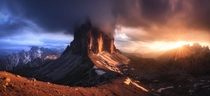 Golden Drama in the Alps - Tre Cime di Lavaredo
