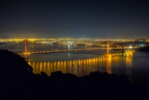 Golden Gate at Night from Marin Headlands