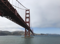 Golden Gate Bridge from Fort Point San Francisco CA  Designed by Strauss Engineering Corp