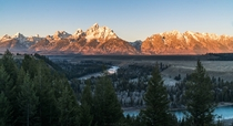 Golden Grand Tetons Wyoming