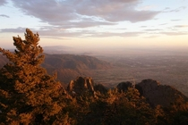 Golden hour at Sandia Crest New Mexico  feet above sea level