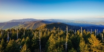 Golden hour from Clingmans Dome Great Smoky Mountains