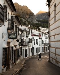 Golden hour in Grazalema Spain