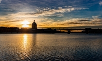 Golden hour in Toulouse France