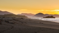 Golden Hour on Haast Beach West Coast NZ