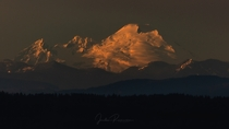 Golden hour on Mt Baker