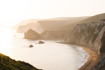 Golden Hour over the Jurassic Coast UK