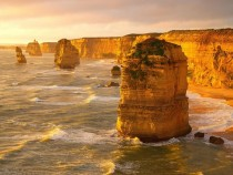 Golden Hour Shot of the  Apostles in Victoria Australia