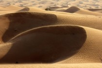 Golden sand dunes Dubai UAE