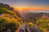 Golden sunrise from top of Pico do Arieiro on Madeira Portugal  Instagram alex_lauterbach