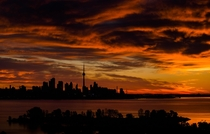 Golden sunrise in Toronto Canada