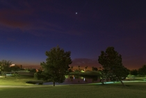 Golf course in Arizona at night