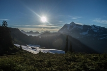 Good morning from the North Cascades Chain Lakes Trail