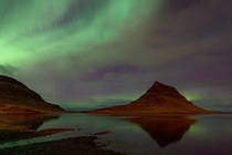 Good ol Kirkjufell Iceland under the Northern Lights