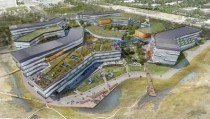 Googles Bay View campus render from NBBJ