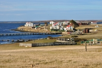 Goose Green a historic settlement on the Falkland Islands