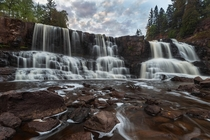 Gooseberry Falls on the North Shore of Minnesota