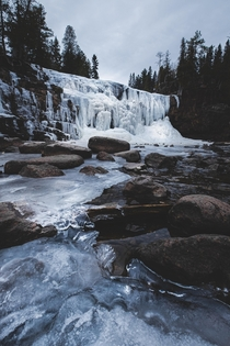 Gooseberry Falls State Park Duluth Minnesota  IG mountbluu Stay warm and explore more in winter