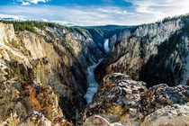 Gorgeous day at Artist Point Yellowstone National Park Wyoming United States