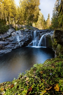 Gorgeous little waterfall located near La Tuque QC Canada Photographer Andrew Caitens OC