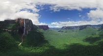 Gorgeous panorama of Venezuelas Angel Falls - the worlds highest uninterrupted waterfall