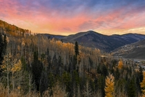 Gorgeous sunset at Vail Colorado by Febian Shah