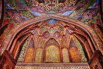 Gorgeous tile work at Wazir Khan mosque in Lahore Pakistan