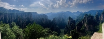 Gorgeous view from the mountaintops of Zhangjiajie National Park Hunan China