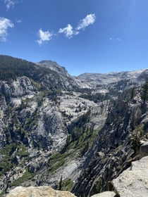 Gorgeous view from the watchtower on the lakes trail Sequoia National Park CA