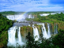 Gorgeous View Of The Worlds Largest Waterfall System Iguazu Falls Brazil