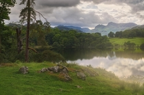 Got bloody soaked to get this Loughrigg Tarn Lake District UK