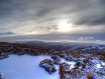 Got pretty cold up there but definitely worth it First snow in wicklow mountains ireland on christmas day