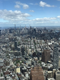 Got the chance to go to the top of the One World Trade Center back in May Got this Awesome photo