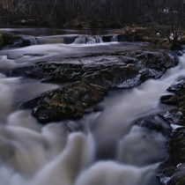 Got this long exposure shot of Storelva in Lensvik Norway inbetween the hail showers