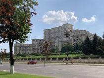 Got to see the Palace of the Parliament in Bucharest Romania heaviest building in the world