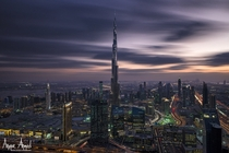 Gotham - Burj Khalifa in Dubai UAE by Anique Ahmed